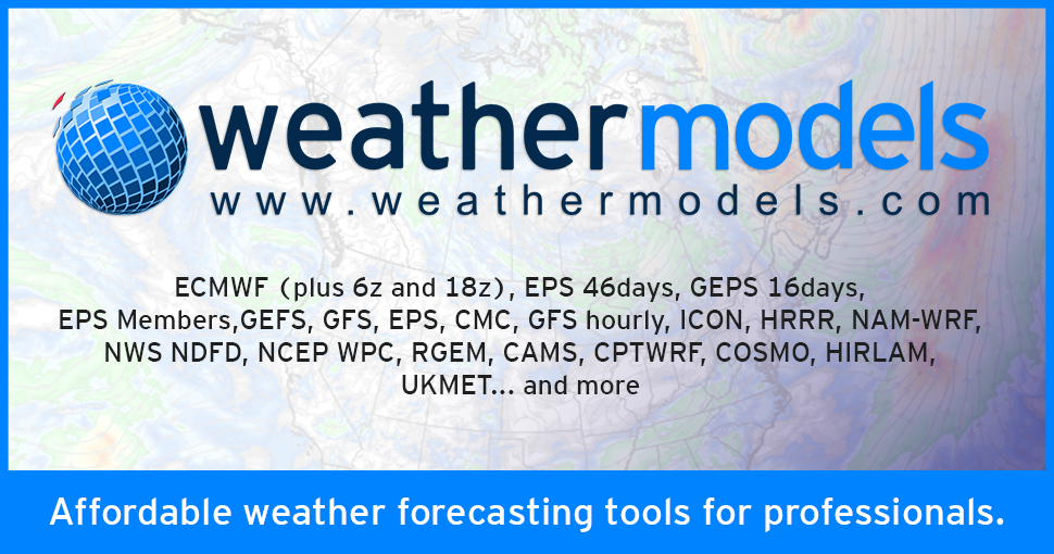 ECMWF, GFS and more for Weather Forecast, Hurricanes and